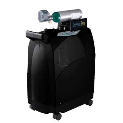 DeVilbiss Healthcare iFill Personal Oxygen Station, Carrying Case, 2 D-CF Cylinders 535d-2dc