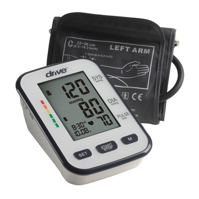 Drive Medical Automatic Deluxe Blood Pressure Monitor Upper Arm BP3400
