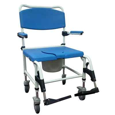 Drive Medical Bariatric Aluminum Rehab Shower Commode Chair - NRS185008