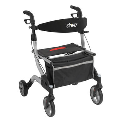 Drive Medical I-Walker Aluminum Rollator, Silver - Model RTL10555SL