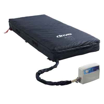 Drive Medical Med-Aire Essential 8 in Alternating Pressure and Low Air Loss Mattress System 14508