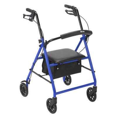 Drive Medical Rollator with 6 in Wheels Blue - R800BL