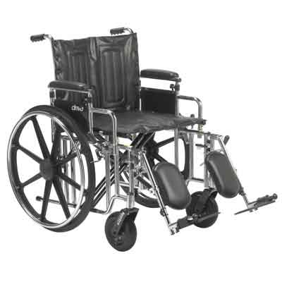 Drive Medical Sentra Extra Heavy Duty Wheelchair Detachable Adjustable Height Desk Arms Elevating Leg Rests 20 Sea