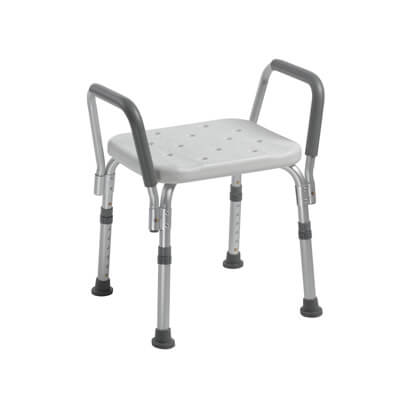 Drive Medical Shower Bench with Removable Padded Arms - Model 12440KD-1