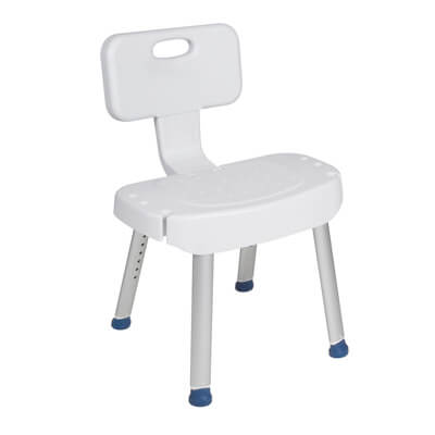 Drive Medical Shower Chair with Folding Back - Model rtl12606