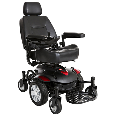 Drive Medical Titan AXS Mid-Wheel Power Wheelchair 18x16 Captain Seat TITANAXS-1816CS