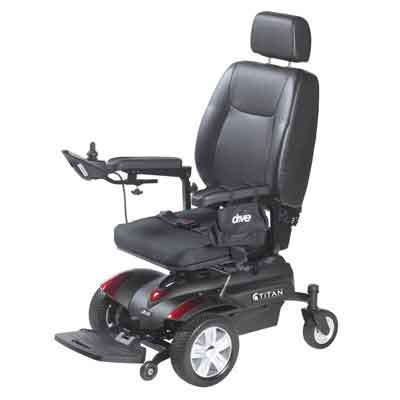 Drive Medical Titan Front Wheel Power Wheelchair Pan Seat 18 x 18