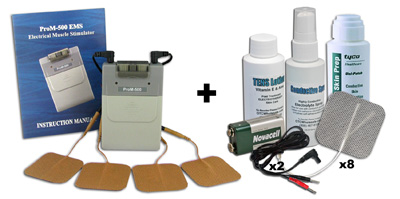 ProM-500 Muscle Stimulation Unit plus Accessory Kit