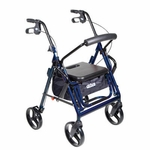 Drive Medical Duet Blue Transport Wheelchair Rollator Walker 795b
