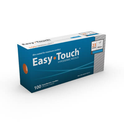 Easy Touch Hypodermic Needle 100ct 23G  40mm, 1.5 in 802307