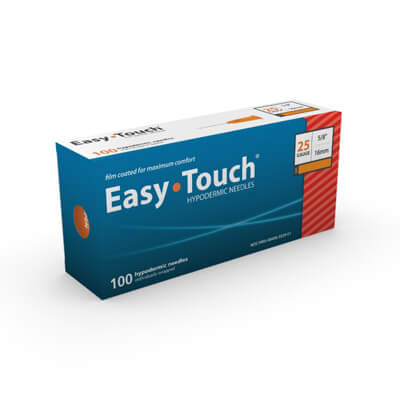 Easy Touch Hypodermic Needle 100ct 25G  16mm, 5/8 in 802500