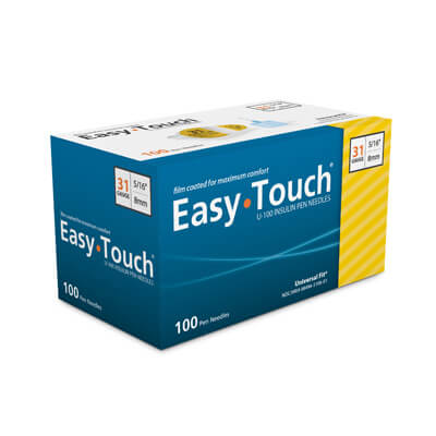Easy Touch 31 Gauge 5/16 in Pen Needles - 100 ea