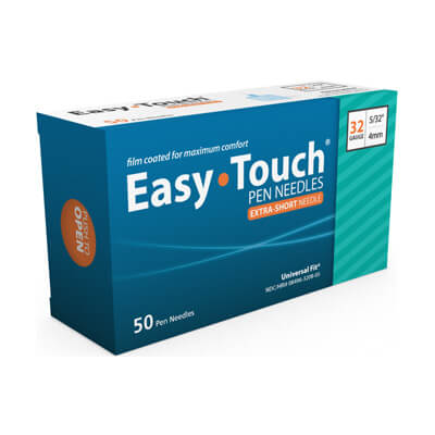 Easy Touch 32 Gauge 5/32 in 4mm Pen Needles - 50 ea