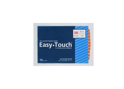Easy Touch 30 Gauge 0.5 cc 1/2 in Insulin Syringes - 10 ea Model 830555