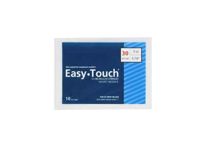 Easy Touch 30 Gauge 0.5 cc 5/16 in Insulin Syringes - 10 ea Model 830565