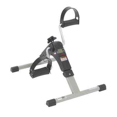 Drive Medical Folding Exercise Peddler with Electronic Display rtl10273