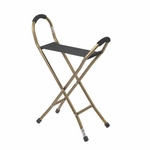 Drive Medical Folding Lightweight Cane with Sling Style Seat rtl10360