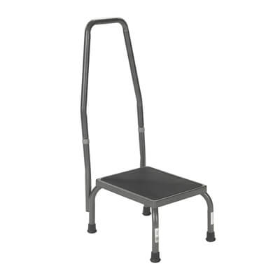 Drive Medical Footstool with Non Skid Rubber Platform and Handrail 13031-1sv