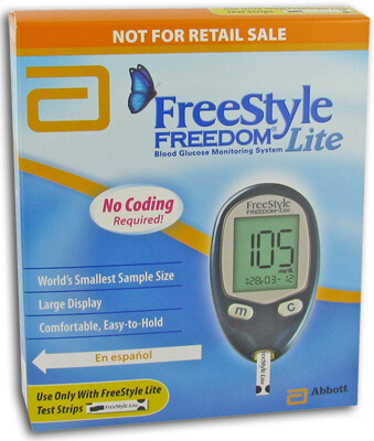 Freestyle test strips lancets blood glucose monitors freestyle freedom lite blood glucose monitoring system 1 ea aloadofball Choice Image