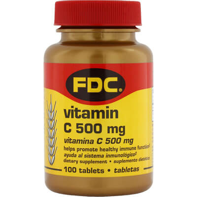 Vitamin C (500mg) Nutritional Supplement - 100 tablets