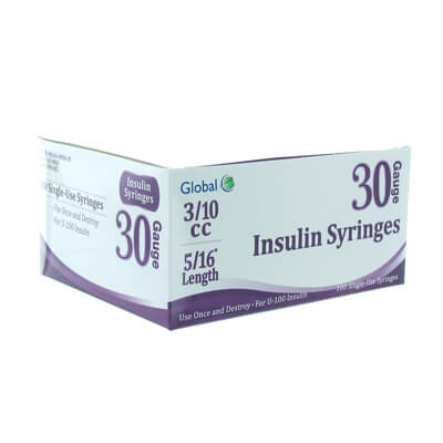 Global 30G .3cc 5/16 in Insulin Syringe