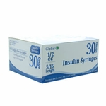Global 30G .5cc 5/16 in Insulin Syringe