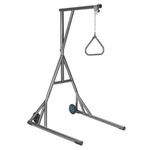 Drive Medical Heavy Duty Silver Vein Trapeze with Base and Wheels 13039sv