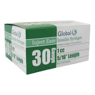 Inject Ease 30G 1cc 5/16 in Insulin Syringe