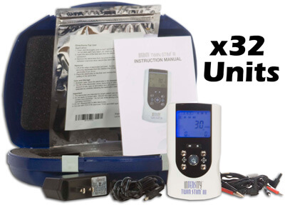 InTENSity Twin Stim III Combo Dual Channel TENS Unit and Muscle Stimulator Unit - DI3717 - 32ea