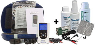 InTENSity Twin Stim III Combo TENS Unit and EMS Unit plus Accessory Kit