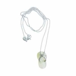 Island Sense White Mother of Pearl Flips Flop  Necklace