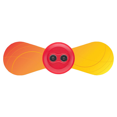 iTENS - TENS Unit replacement Small Wings Electrodes Orange