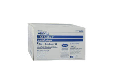Covidien Monoject Insulin 28G 1/2cc 1/2 (Model 8861600004)