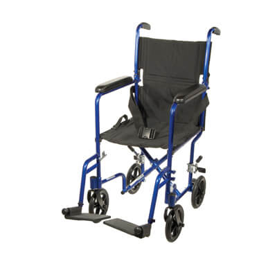Drive Medical Lightweight Blue Transport Wheelchair atc17-bl
