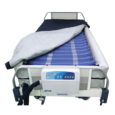 Drive Medical Med Aire 8 inch Defined Perimeter Low Air Loss Mattress Replacement System with Low Pressure Alarm 14029dp
