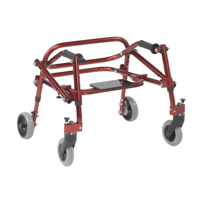 Nimbo 2G Lightweight Posterior Walker with Seat Medium Castle Red - Drive Medical - KA3200S-2GCR