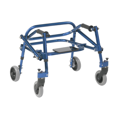 Nimbo 2G Lightweight Posterior Walker with Seat Small Knight Blue - Drive Medical - KA2200S-2GKB