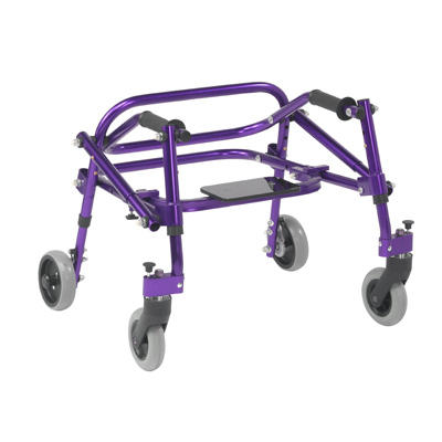 Nimbo 2G Lightweight Posterior Walker with Seat Small Wizard Purple - Drive Medical - KA2200S-2GWP