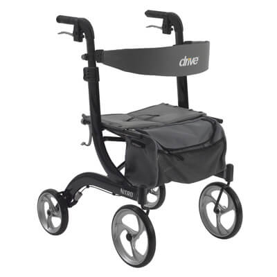 Drive Medical Nitro Euro Style Black Rollator Walker rtl10266bk