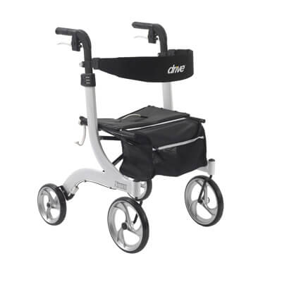 Drive Medical Nitro Euro Style White Rollator Walker rtl10266wt