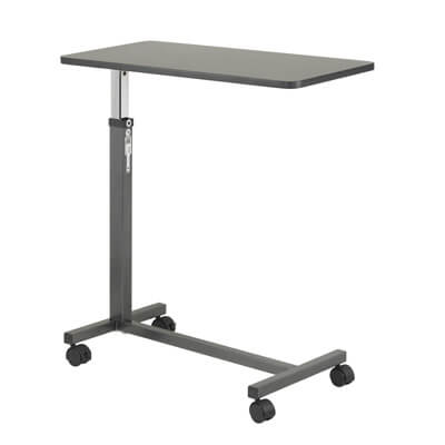 Drive Medical Non Tilt Top Silver Vein Overbed Table 13067