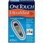 One Touch Ultra Mini Blood Glucose Monitoring System, Silver - 1 ea