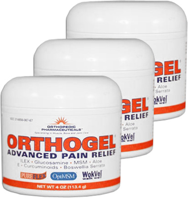 Orthogel Advanced Pain Relief Jar - 4 oz (3 Pack)