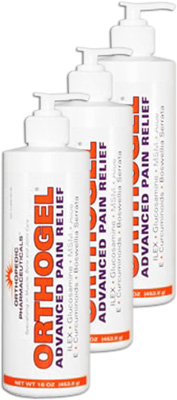 Orthogel Cold Therapy Pain Relief Pump - 16 oz (3 Pack)