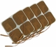 Roscoe Medical TENS Electrodes 2 x 2 in Square, Tan Mesh Backed - 16 Pads