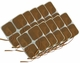 Roscoe Medical TENS Electrodes 2 x 2 in Square, Tan Mesh Backed - 40 Pads