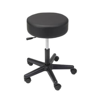 Drive Medical Padded Seat Revolving Pneumatic Adjustable Height Stool with Plastic Base 13079
