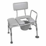 Drive Medical Padded Seat Transfer Bench with Commode Opening 12005kdc-1