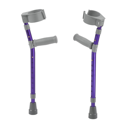 Pediatric Forearm Crutches Medium Wizard Purple Pair - Drive Medical - FC200-2GP