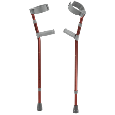 Pediatric Forearm Crutches Small Castle Red Pair - Drive Medical - FC100-2GR